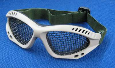 Kingrin Foam Padded Mesh Goggles (Tan)