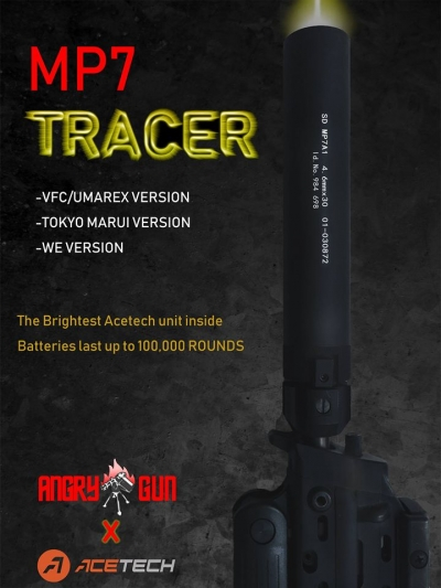 Angry Gun MP7 Tracer Silencer unit for Marui MP7