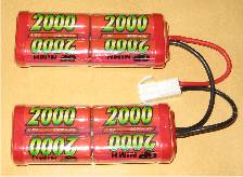 GP 9.6v 2000mah NiMh M4 battery