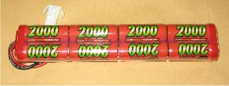 GP 9.6v 2000 NiMh battery for SCAR / L1A1