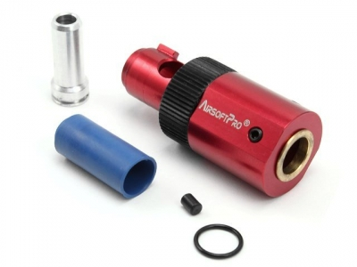 Airsoft Pro CNC Hop-Up Chamber Unit and Sealing Nozzle for M249
