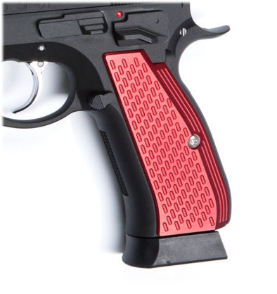 ASG Aluminium Grip Shells for CZ SP-01 Shadow (Red)