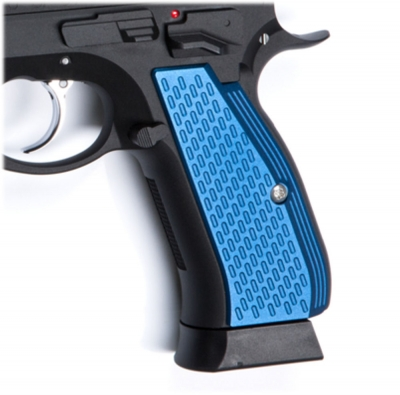 ASG Aluminium Grip Shells for CZ SP-01 Shadow (Blue)
