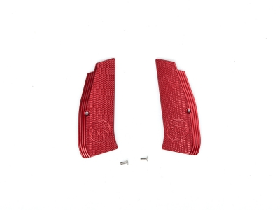 ASG Metal Grip Shells with CZ logo for CZ SP-01 Shadow (Red)