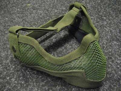 Black Bear Raider Olive mesh mask with ear protection