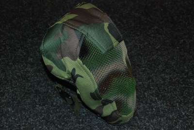 Black Bear Razor Woodland Camo mesh mask