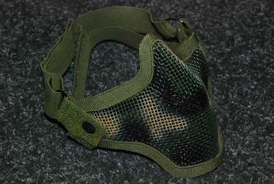 Black Bear Shadow Woodland Camo mesh mask