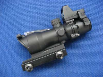 Gbase 4x32 ACOG ECOS with RMR Sight (Red Fiber Optic)