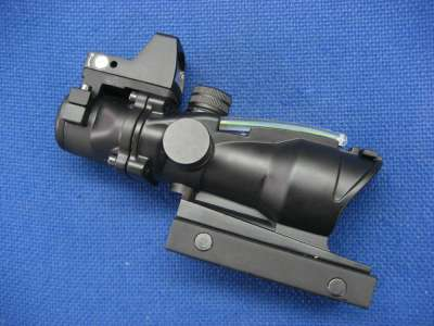 Gbase 4x32 ACOG ECOS with RMR Sight (Green Fiber Optic)(Black)