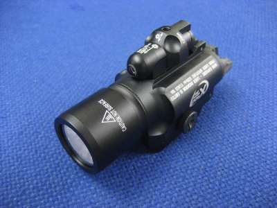 Gbase X400 Red Laser and LED Weapon Light Black