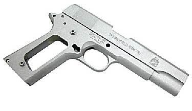Guarder Aluminium Slide & Frame for Marui M1911A1 (Springfield)(Silver)