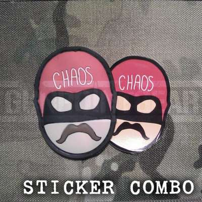 Gunpoint Gear Captain Chaos - Sticker Combo velcro patch
