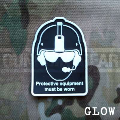 Gun Point Gear Health And Safety - Glow Velcro Patch