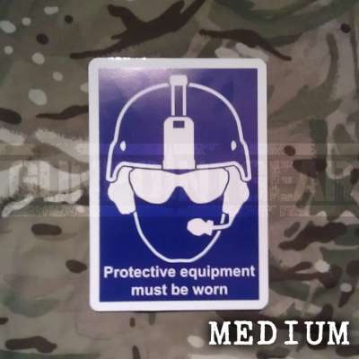 Gunpoint Gear Health And Safety - Medium - Colour Sticker