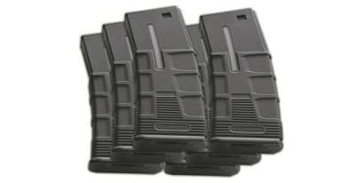 ICS M4/M16 T-Mag Hi-Cap Magazines (Box of 6)(Black)(300 rnd)