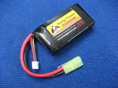 Kong Power 7.4v 1000mAh 20c LiPo Rechargeable Battery (Single Pack)(Mini Tamiya)