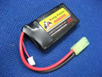 Kong Power 11.1v 1000mAh 20c LiPo Rechargeable Battery (Single Pack)(Mini Tamiya)