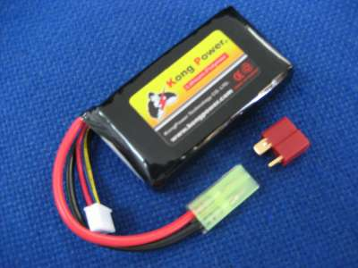 Kong Power 11.1v 1100mAh 20c LiPo Rechargeable Battery (Single Pack)(Mini Tamiya)
