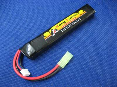 Kong Power 11.1v 1300mAh 20c LiPo Rechargeable Battery (Buffer Tube Pack)(Mini Tamiya)