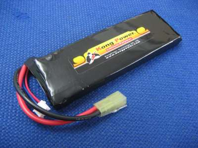 Kong Power 7.4v 3300mAh 25c LiPo Rechargeable Battery (Single Pack)(Mini Tamiya)