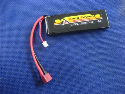 Kong Power 7.4v 1900mAh 22c LiPo Rechargeable Battery (Single Pack)(Deans)