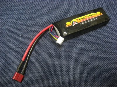 Kong Power 11.1v 1900mAh 22c LiPo Rechargeable Battery (Single Pack)(Deans)