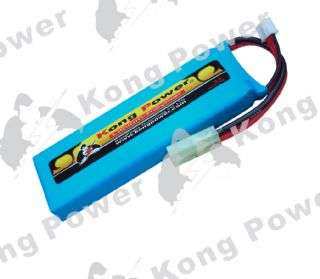 Kong Power 7.4v 1400mAh 15c LiPo Rechargeable Battery (Mini Single Pack)(Mini Tamiya)