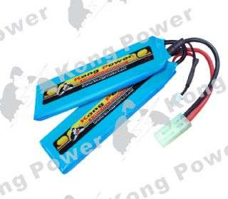 Kong Power 7.4v 1400mAh 15c LiPo Rechargeable Battery (Split Pack)(Mini Tamiya)(CXP)