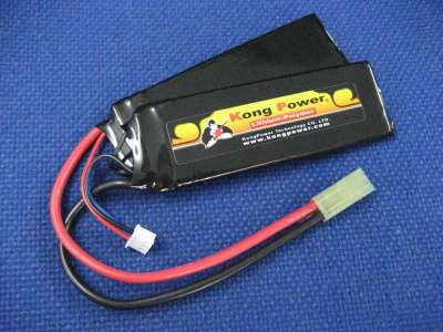 Kong Power 7.4v 1900mAh 22c LiPo Rechargeable Battery (Split Pack)(Mini Tamiya)