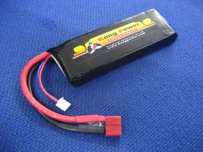 Kong Power 7.4v 2200mAh 30c LiPo Rechargeable Battery High Voltage (Single Pack)(Deans)