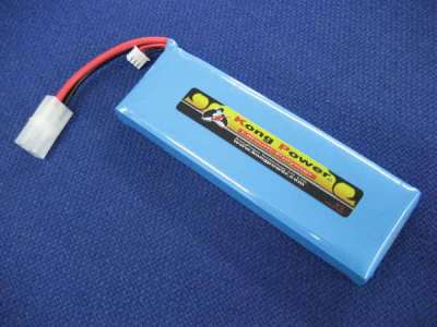 Kong Power 7.4v 3800mAh 25c LiPo Rechargeable Battery (Single Pack)(Large Tamiya)