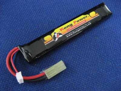 Kong Power 7.4v 1300mAh 15C Stick Battery buffer tube