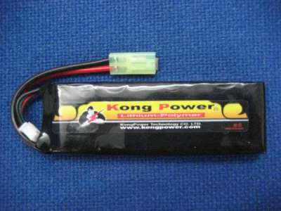 Kong Power rechargeable lipo battery 1900mAh 22C 7.4V single pack Mtamiya
