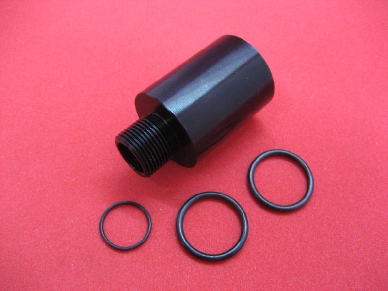 LPE CNC Machined 14mm CCW Thread Adapter For KWC Mini UZI