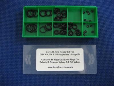 LPE Large O-Ring Repair Kit for GHK AK/M4/G5 Magazines - Airsoft ...