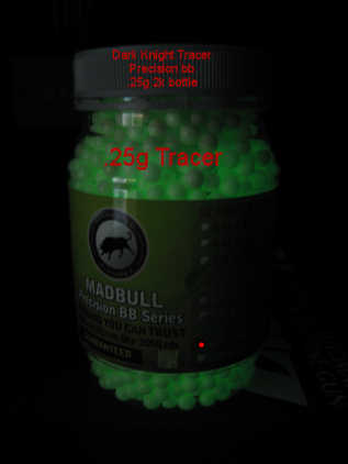 MadBull Precision .25g Dark Knight Tracer BB's 2000rnd Bottle (Green)