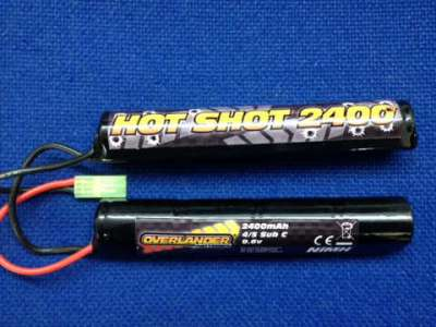 Overlander 9.6v 2400mAh NiMH PTW CA Crane Stock Rechargeable Battery (Type 12)