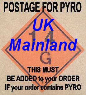 TLSFX Pyro Postage and Packing costs UK Mainland