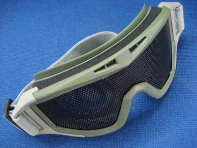 Red Star Wire mesh adjustable goggles OD