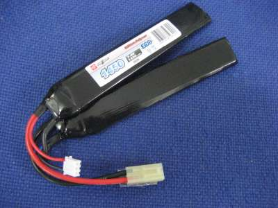 Vapex 7.4v 1450mAh 20c LiPo Battery Cranestock Airsoft rechargeable