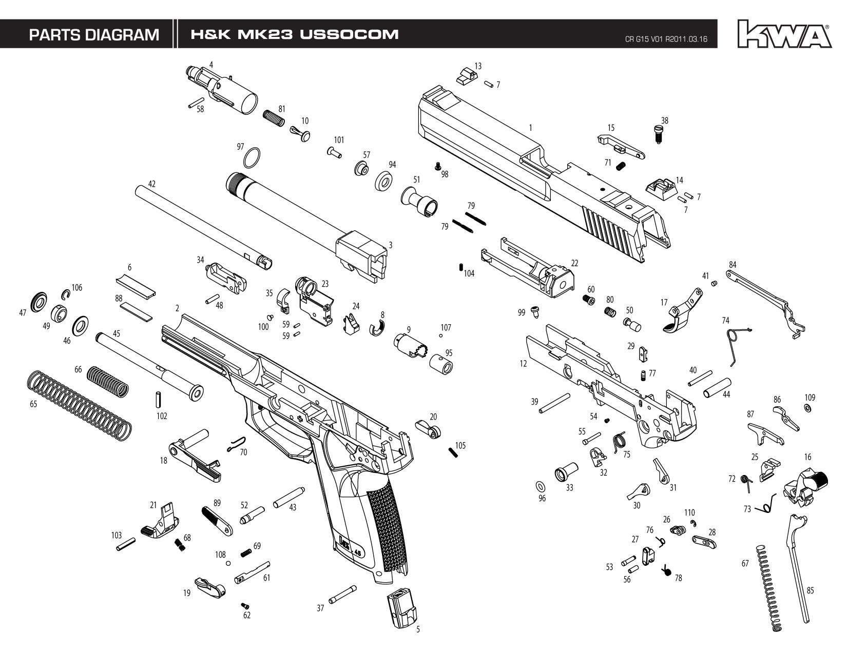 Umarex Colt Saa Parts List Diagram Steel Storm Replacement M4 Airsoft Rifle Wiring Diagrams Portal U2022 Force Disassembly Kwa Gun Manual H K Mk23