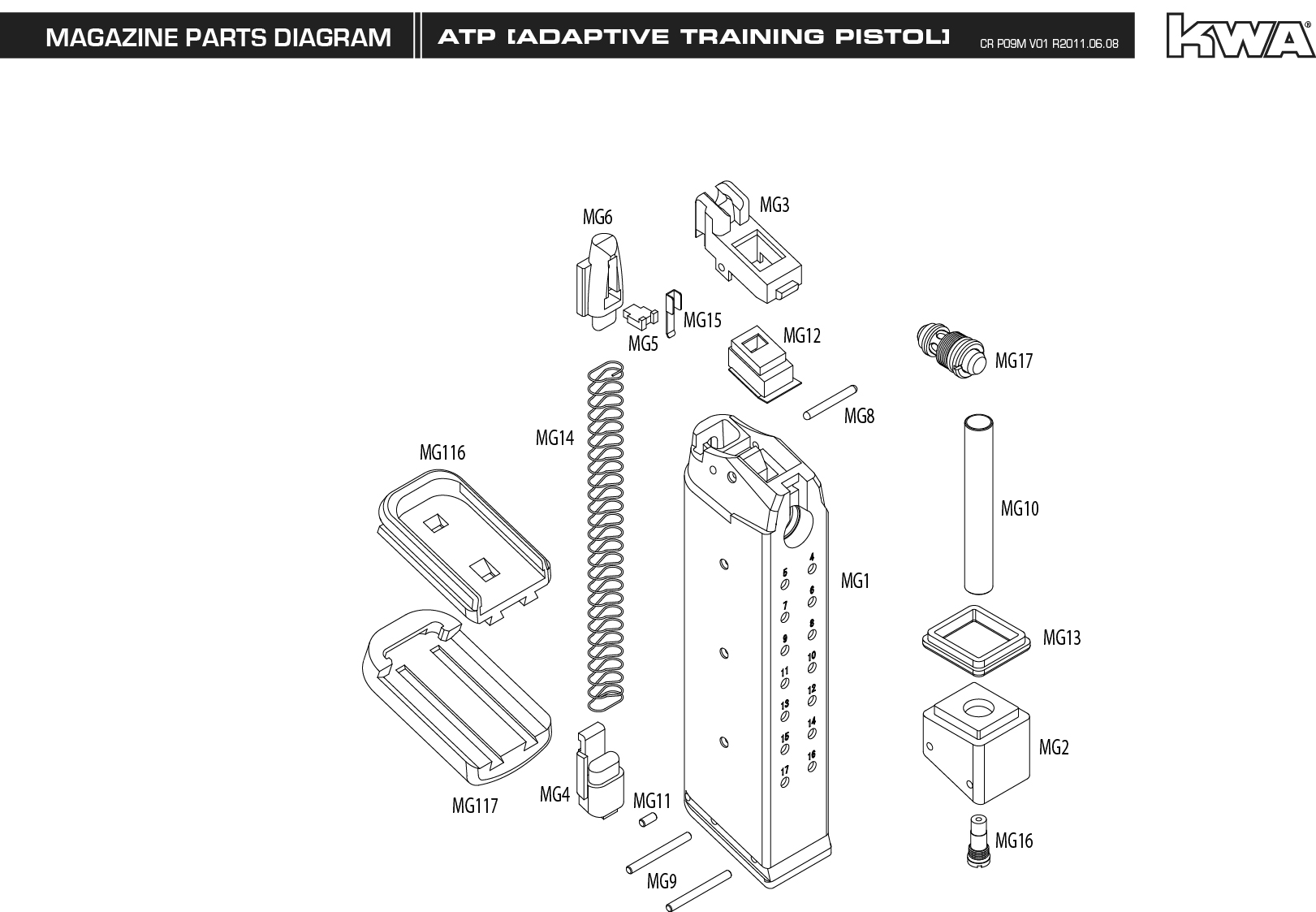 Kwa Mag Manual Atp Airsoft Shop Airsoft Guns Sniper