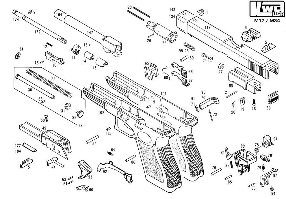 kwa gun manual m17  m34