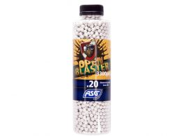 ASG Open Blaster .20g Bio BB's 33000 rnd Bottle (White)