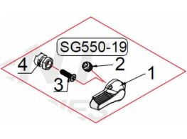 G&G SG 550 551 552 553 fire selector right G550-19