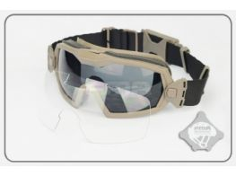 FMA LPG01BK12-2R Regulator Goggles with Fan (Dark Earth)