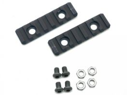 Dytac UXR 3 & 3.1 Two-Hole Picatinny Rail Section (Pack of 2) (Black)