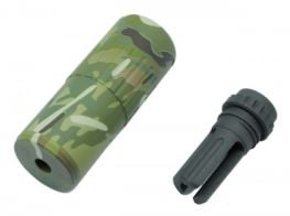 Dytac CQB QD Silencer w/ Tri Lug Flash Hider Multicam (14mm CCW)