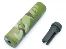 Dytac SCAR QD Silencer with Tri Lug Flash Hider (Multicam) (14mm CCW)