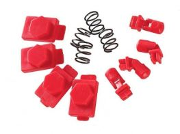 Dytac Hexmag Airsoft HexID in LAVA Red (4x Hexgon Latchplates / 4x Followers)